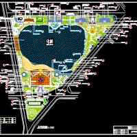 牟定县左脚舞广场人工湖设计图(含网球场)