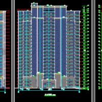 江苏绿地香颂花园23层住宅楼建筑图