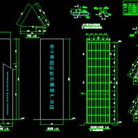 三角形三面型户外广告牌结构设计图