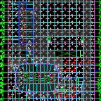 山东某大型地下车库结构设计图(桩筏基础)