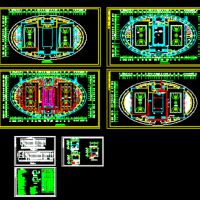 椭圆形风雨操场电气设计图