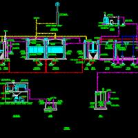 垃圾焚烧厂渗滤液处理工艺流程CAD图