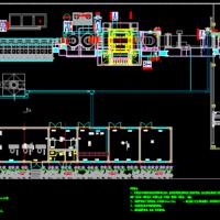 垃圾焚烧炉设备平面总图