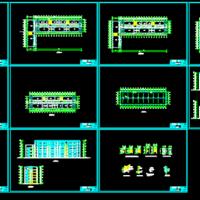 六层框架结构教学楼毕业设计(含施工总平面 双代号网络图)