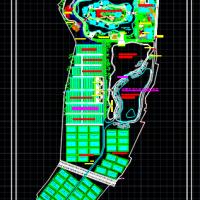 某农业观光产业园规划设计总平面图