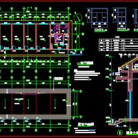 190平米一层砌体结构办公楼建筑及结构全套图