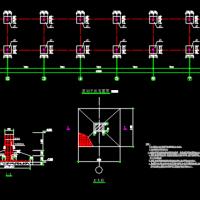 某住宅区非机动车停车棚结构施工图