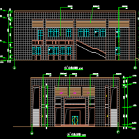 1667平米中学报告厅建筑图