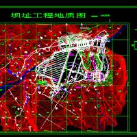 面板堆石坝CAD布置图