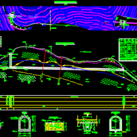 输水洞布置及竖井结构CAD施工图