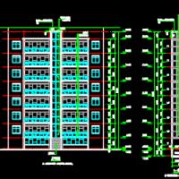旧小区加装电梯CAD方案