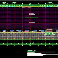 钢结构医药高架仓库建筑图(2020年出图)