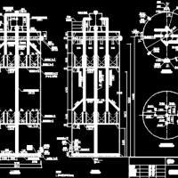 工业废水处理厌氧反应器CAD图纸