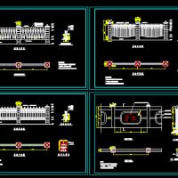 四款铁艺围墙CAD建筑图