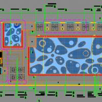 小型室外游泳池施工图