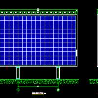 户外LED双立柱显示屏图纸(P10LED全彩)