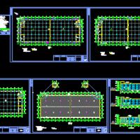 三层钢结构厂房建筑图(家俱厂房)