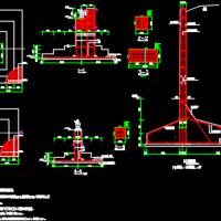 4米高挡煤墙结构配筋图
