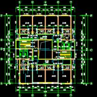 1678平米5层框架结构敬老院土建算量图纸