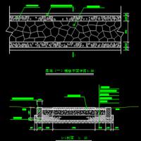 冰裂纹园路铺装CAD详图