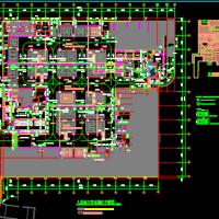 苏州某图书馆地下人防建结水电暖全套图(二等人员掩蔽)