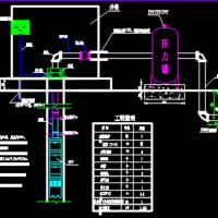 农田水利机井、钢制井堡及标识结构图