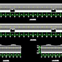 25X2带气楼钢结构厂房结构图