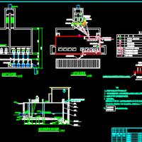 污水处理厂粗格栅及提升泵房设计施工图
