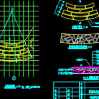 青石板冰裂纹小道CAD图