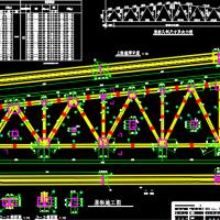 24m梯形钢屋架钢结构课程设计图