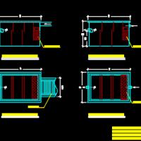 不锈钢隔油池CAD图