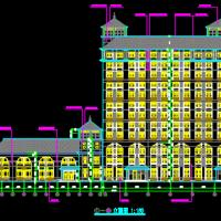 12层办公楼建筑及结构全套图(地下两层人防)