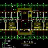 6层框架结构办公楼建筑图