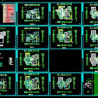 2层砌体结构别墅电气设计施工图