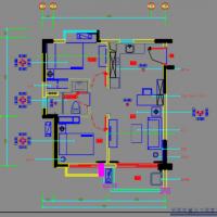 两居室小户型家装CAD施工图