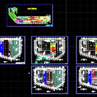 江苏某超市平面布置CAD图