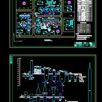 污水处理厂总平面图及高程图(课设图)