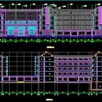 贵州16778平米四层中学教学楼建筑图