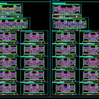 知名房地产高层住宅楼标准化户型图