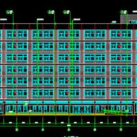 湖北8548平米7层食堂宿舍楼建筑图纸2021年最新