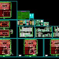 四层宿舍楼建筑图