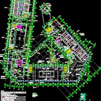 宾阳县·凤凰科技文化广场建筑施工图(42109平米)