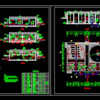 V型滤池和高密度沉淀池CAD图
