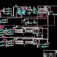 超滤与反渗透脱盐水处理系统PID图