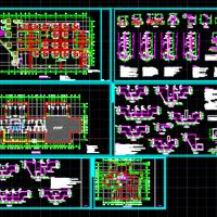 3套筏板基础设计图(含基础详图)