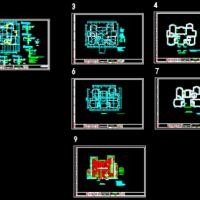 两层木结构商务楼结构图