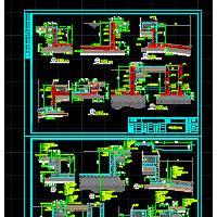 室外游泳池建筑及结构全套图